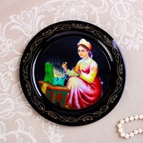 Тарелка декоративная «Сказки», D=18 см, лаковая миниатюра, микс
