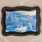 Поднос «Лес», лаковая миниатюра, 19х25 см, микс