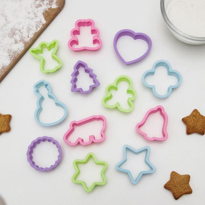 """Набор форм для печенья """"Праздник"""", 12 шт"""