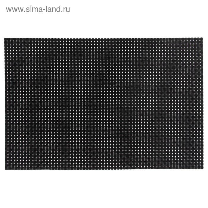 Подкладка настольная 45х30х0,2 см (плетение 2х2 мм), цвет черный