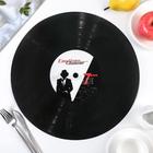 """Подкладка настольная """"Виниловая пластинка"""", 38 см"""