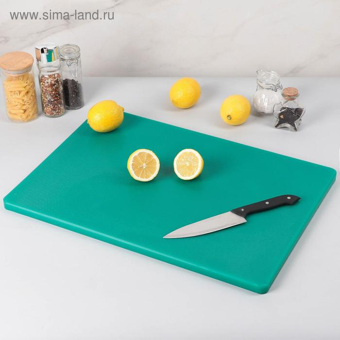Доска разделочная, 60*40*1,8 см, зеленая