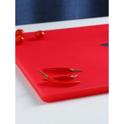 Доска разделочная 60×40 см, цвет красный