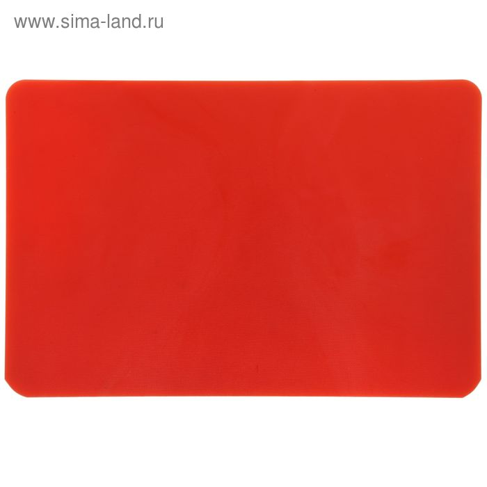 Доска разделочная, 50*35*1,5 см, красная