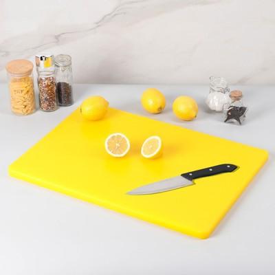 Доска разделочная 60×40 см, цвет жёлтый