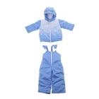 Конверт трансформер (конверт-куртка, брюки), рост 80 см (48), цвет голубой
