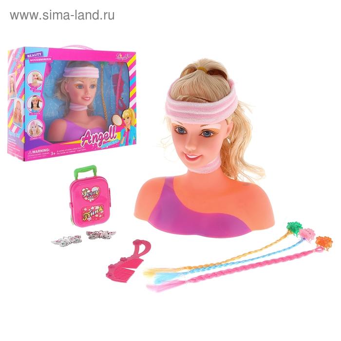 """Кукла манекен для создания причесок """"Красотка"""", с аксессуарами и накладными прядками, МИКС"""