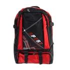 Рюкзак туристический Sport, 1 отдел, 2 наружных и 2 боковых кармана, объём - 24л, чёрный/красный