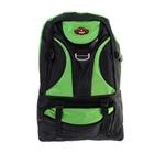"""Рюкзак туристический """"Турист"""", 1 отдел, 3 наружных и 2 боковых кармана, объём - 43л, чёрный/зелёный"""