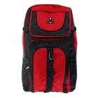 """Рюкзак туристический """"Классика"""", 1 отдел, 2 наружных и 2 боковых кармана, усиленная спинка, объём - 30л, чёрный/красный"""