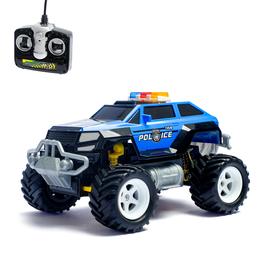 Радиоуправляемая машина 'Полицейский джип', с аккумулятором, цвета:МИКС Ош