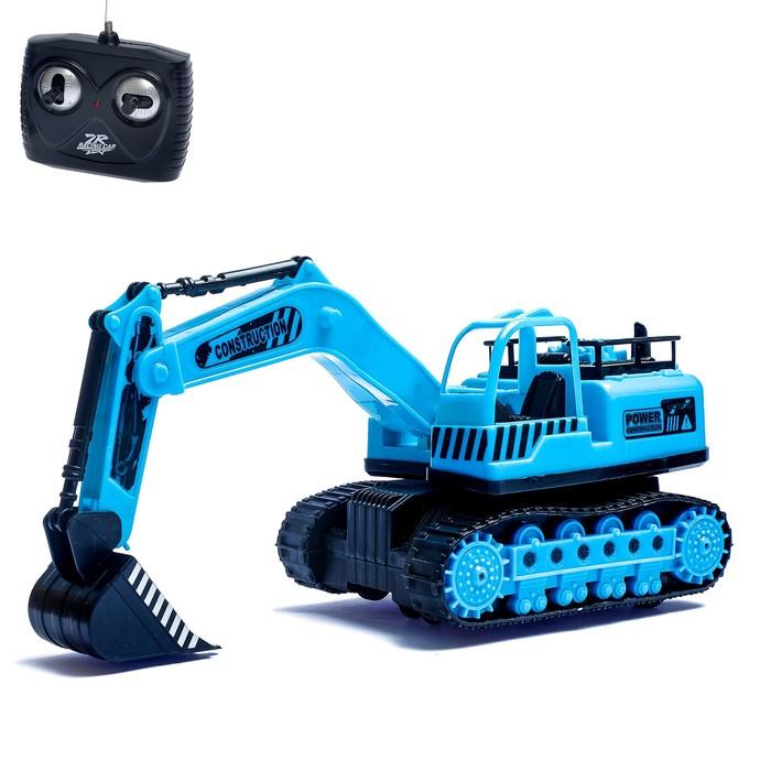 Трактор радиоуправляемый «Экскаватор» с аккумулятором, световые эффекты, цвета МИКС