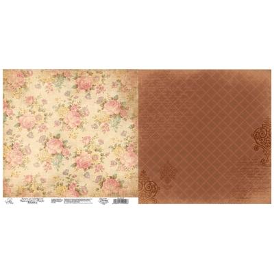 Бумага для скрапбукинга «Цветы», 30.5 × 30.5 см, 180 г/м