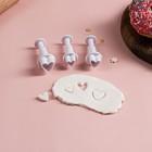"""A set of plungers pastry """"Heart"""", 3-piece: 1,6x1,1 cm; 1,4x1 cm; 1x1 cm"""