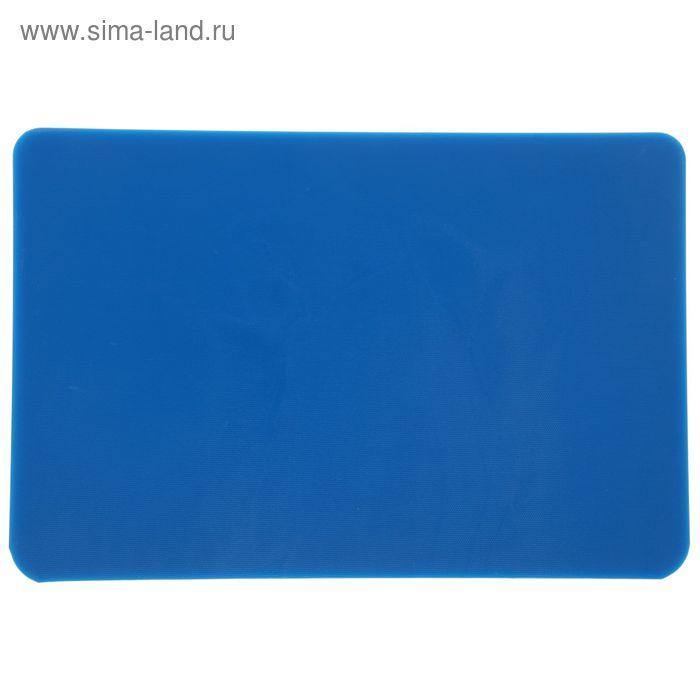 Доска разделочная, 45*30*1,3 см, синяя