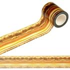 Лента клейкая декоративная бумажная «Золотая рамка», 5 см × 10 м