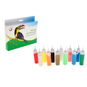 Краска по стеклу витражная Аппликация, набор 12 цветов по 20 мл «Экспоприбор» Ош