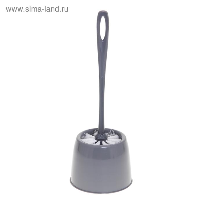 """Ерш для унитаза с подставкой """"Мини"""", цвет серебряный"""