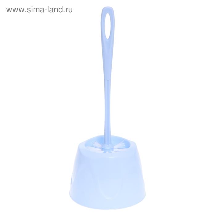 """Ерш для унитаза с подставкой """"Классика"""", цвет голубой"""