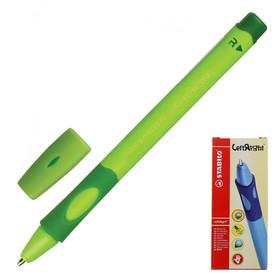 Ручка шариковая STABILO LeftRight для правшей, 0,8 мм, зеленый корпус, стержень синий