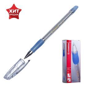Ручка шариковая Stabilo Keris 538, узел 0.2 мм, стержень синий, резиновый упор Ош