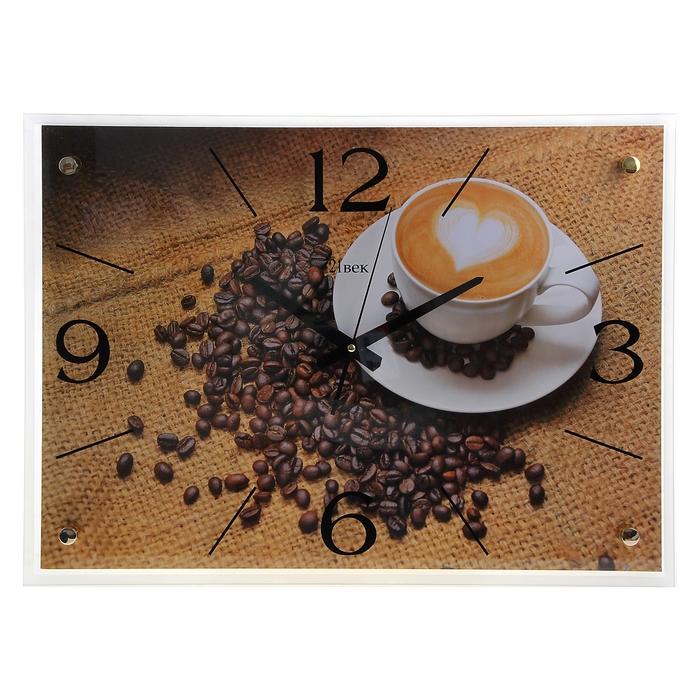 """Часы настенные, серия: Кухня, """"Чашка кофе"""", 40х56 см"""