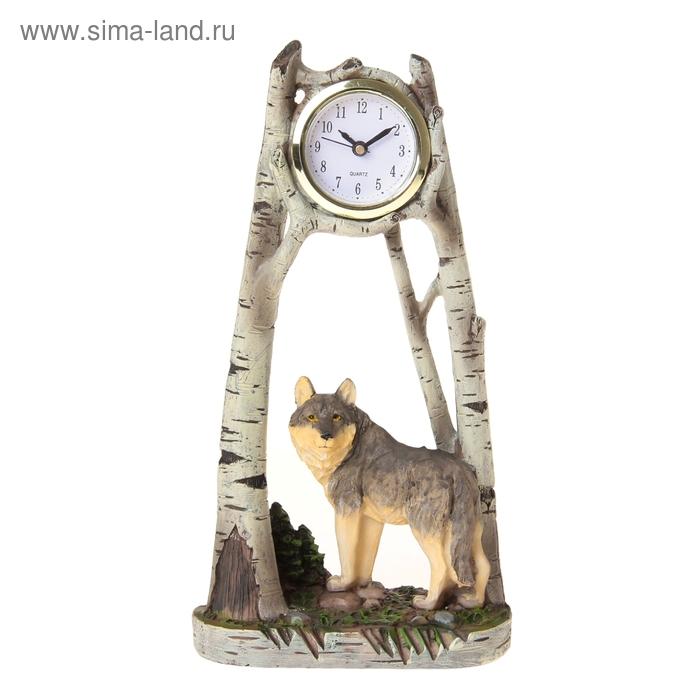 """Часы настольные """"Волк"""""""