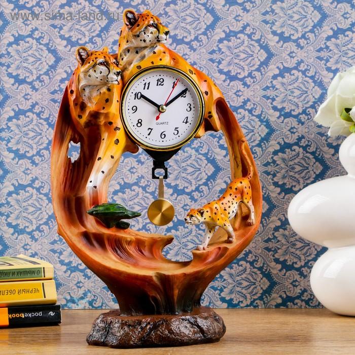 """Часы настольные """"Гепарды на столе"""""""