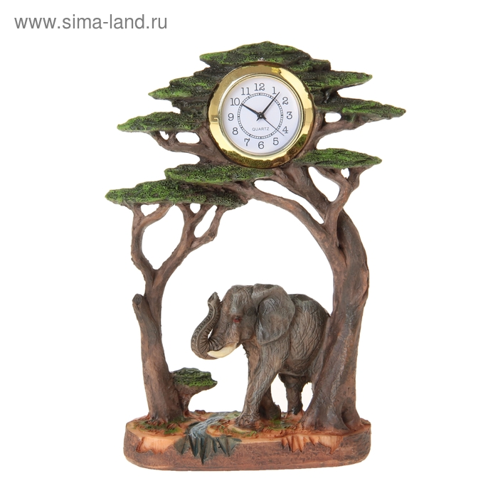 """Часы настольные """"Слон под деревом"""""""