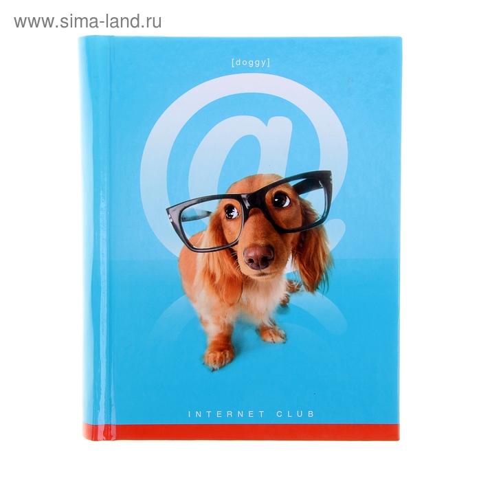 """Блокнот твердая обложка А6, 160 листов """"Собака"""""""