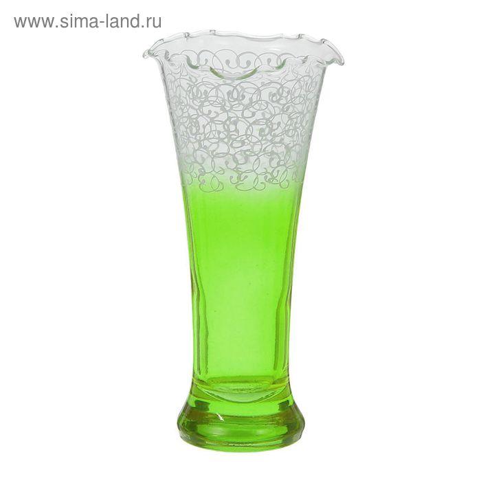 """Ваза """"Ажур"""" зелёная"""