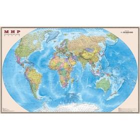 Карта Мира Политическая, 156х101 см, 1:20 М, в картонном тубусе