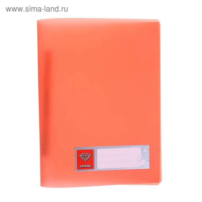 Папка А4 с пружинным скоросшивателем CRYSTAL, 500мкм, оранжевая