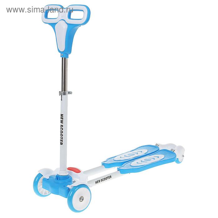 Самокат стальной FLICKER OT-25-1, колеса PU, d=130, 80 мм, цвет синий, до 50 кг