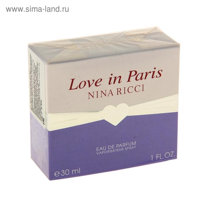 Парфюмерная вода Nina Ricci Love In Paris, 30 мл