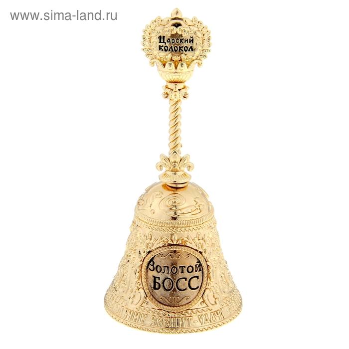 """Колокольчик с ручкой корона """"Золотой босс"""""""