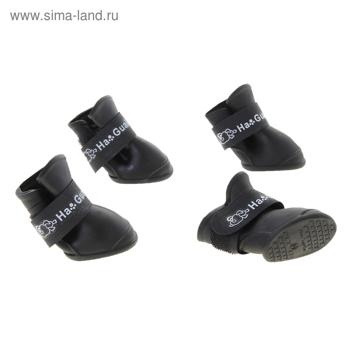 """Сапоги резиновые """"Вездеход"""", набор 4 шт., р-р М (подошва 5 Х 4 см), черные"""