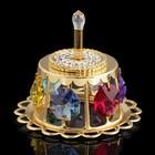 Сувенир «Торт праздничный», с кристаллами Сваровски, 5 см