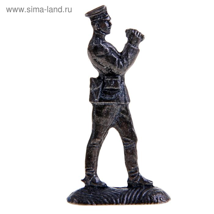 """Оловянный солдатик """"Офицер артиллерист"""""""
