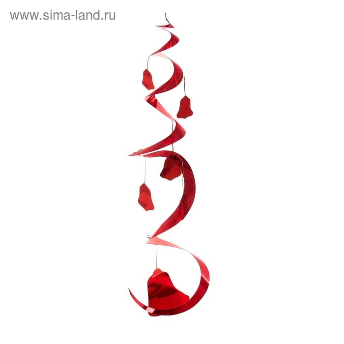 """Спираль """"Колокольчики"""", цвет: красный"""