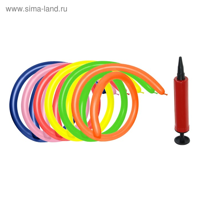 Balloon modelling 160, set 18 PCs., pump + instructions, MIX color