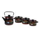 """Набор посуды """"Кармен"""" из 4 предметов : кастрюли 1,5 л; 2,9 л; 3,9 л; чайник 3,5 л"""