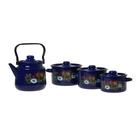 """Набор посуды """"Русское поле"""" из 4 предметов: кастрюли 1,5 л; 2,9 л; 3,9 л; чайник 3,5 л"""