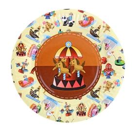 Тарелка с ламинацией 'Карусель', 18 см Ош