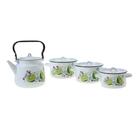 "Набор посуды ""Мохито"" из 4 предметов: кастрюли 1,5 л; 2,9 л; 3,9 л; чайник 3,5 л"