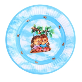 Тарелка с ламинацией 'Ежики', 18 см Ош