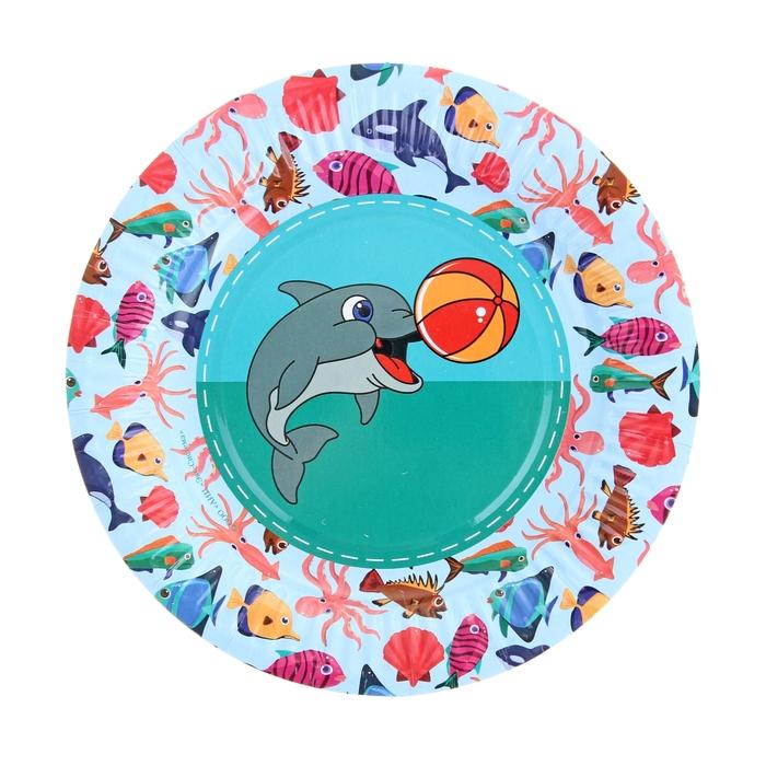 """Тарелка с ламинацией """"Дельфин"""", 18 см"""