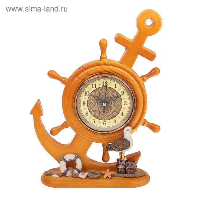 "Часы настольные ""Якорь с чайкой"""