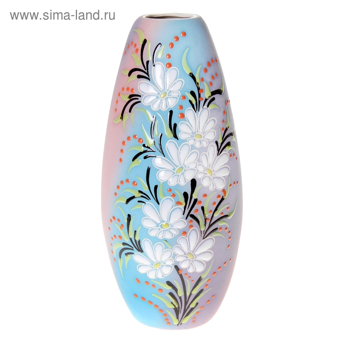 "Ваза ""Версаль"" цветы, ромашки, радуга"