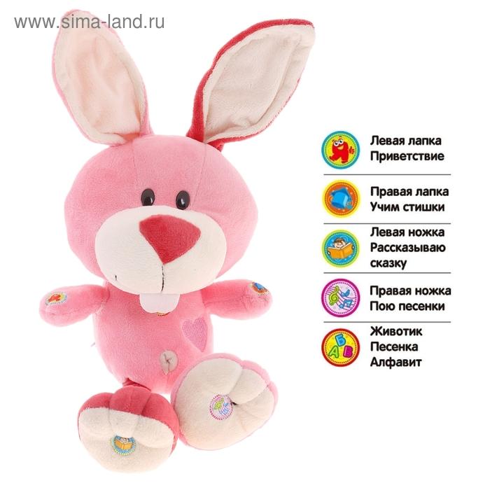 """Кролик """"Умный Я"""" поет песенки, рассказывает сказку, изучение алфавита, стихов, работает от батареек"""